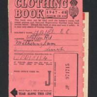 E E Haire's clothing book